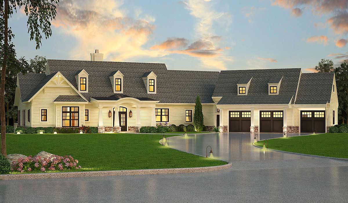 Lovely craftsman with future in law apartment 12309jl for House plans with inlaw apartment