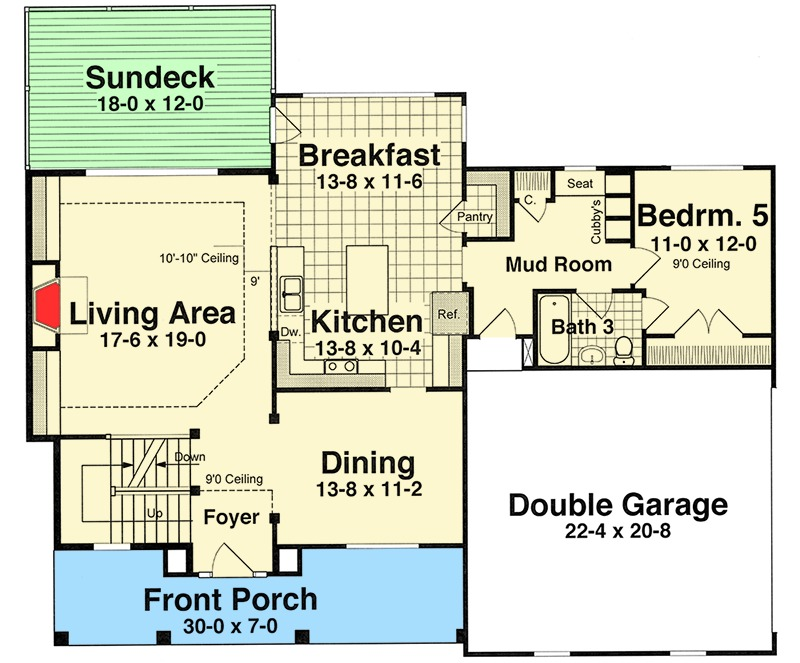 Five Bedrooms With Expansion Possibilities - 92097VS