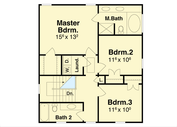 Four square northwest house plan 92053vs architectural for Four square floor plan