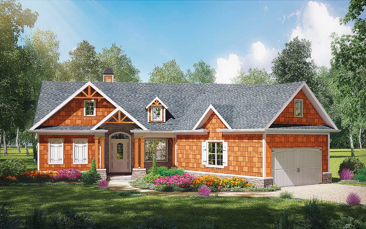 Cost effective craftsman house plan 25610ge for Cost effective homes