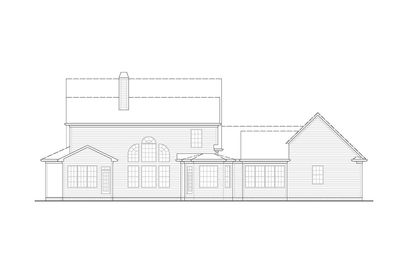 4 Bed Modern Farmhouse with Front and Rear Porches - 25609GE thumb - 02