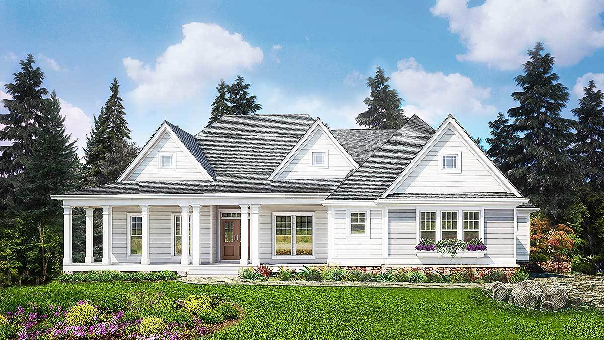 split bedroom country house plan 25608ge architectural designs