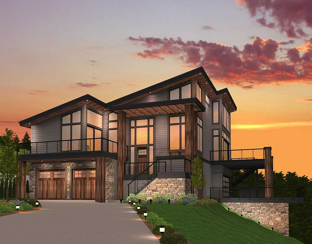 Exclusive Trendsetting Modern House Plan MS
