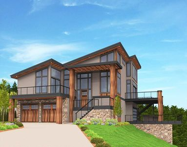 Exclusive Trendsetting Modern House Plan - 85147MS thumb - 02