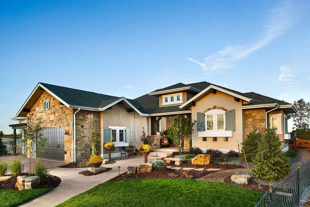 2 bedroom house plan with outdoor living in back 95024rw for House plans with outdoor living
