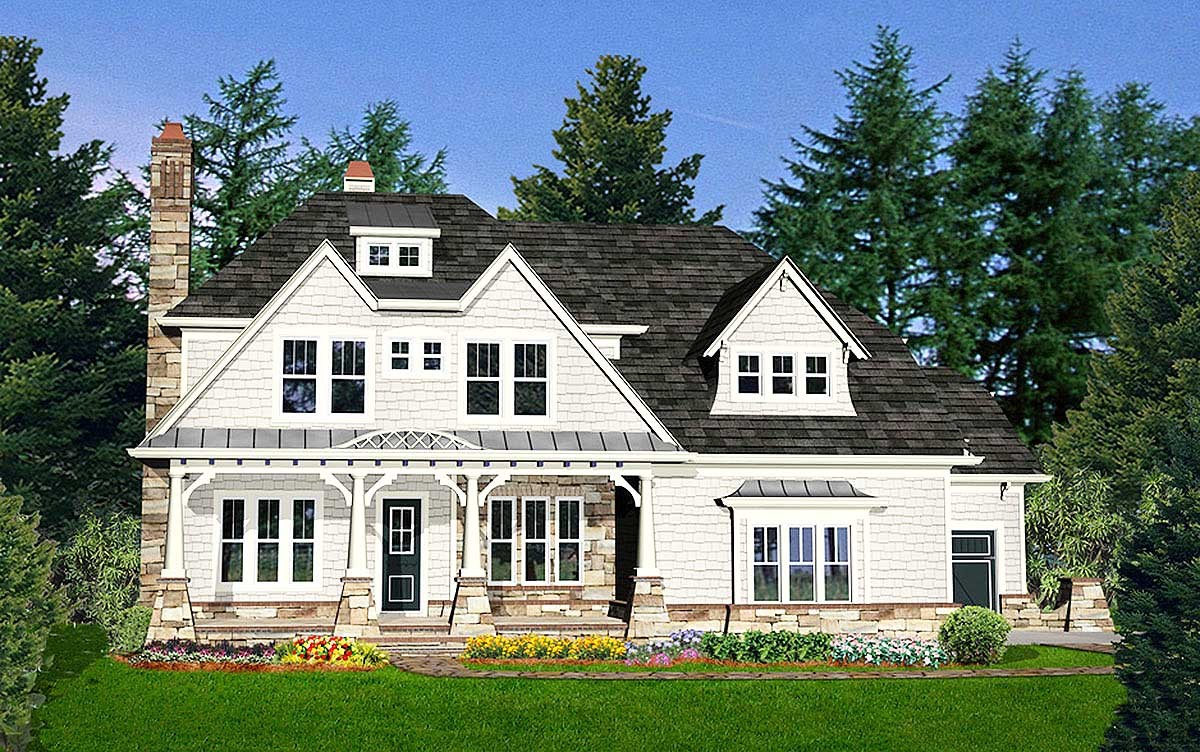 Northwest house plan with lots of character 25613ge for Nw home design