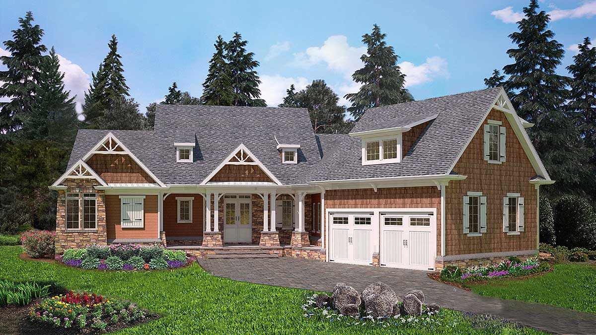 Exclusive Mountain House Plan With Finished Lower Level