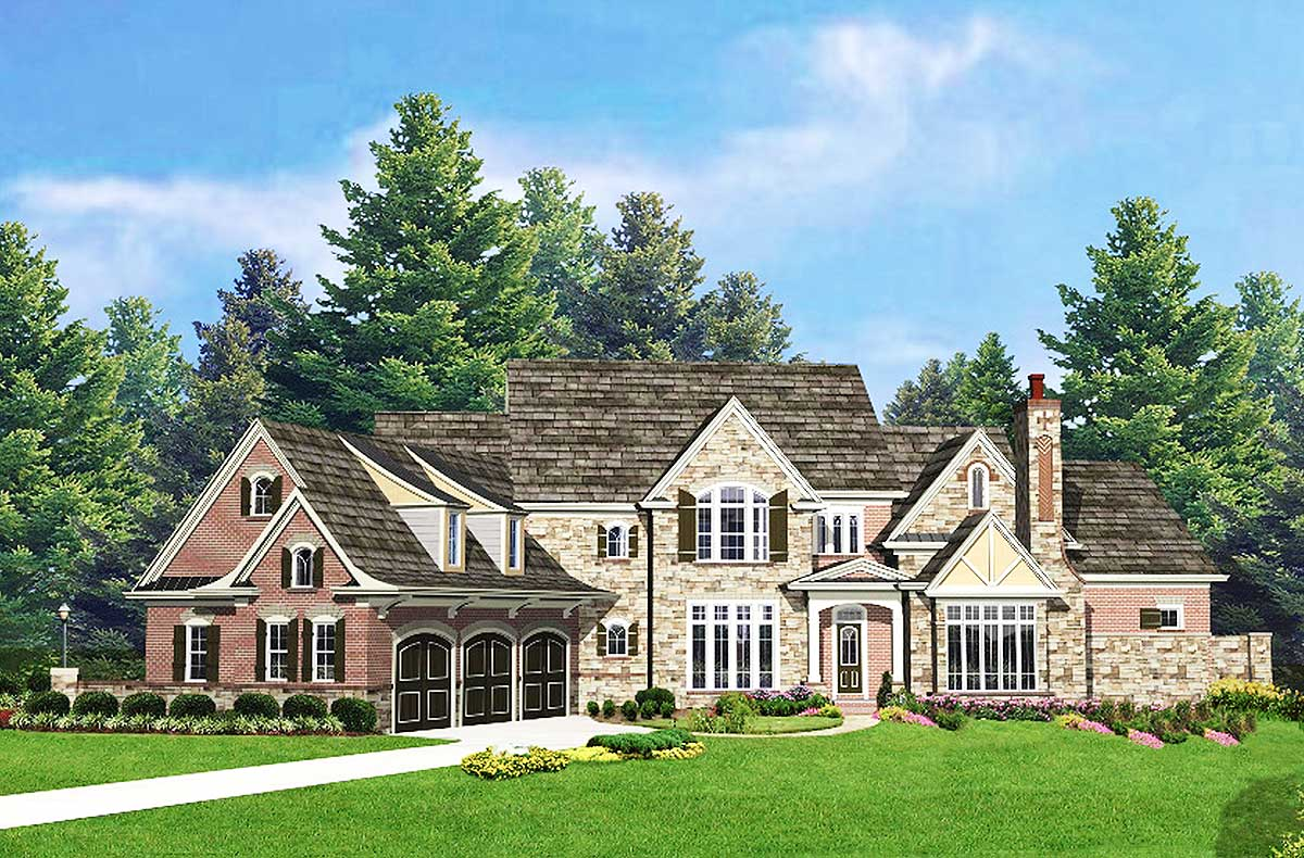 Stately traditional house plan 25626ge architectural for Stately house plans