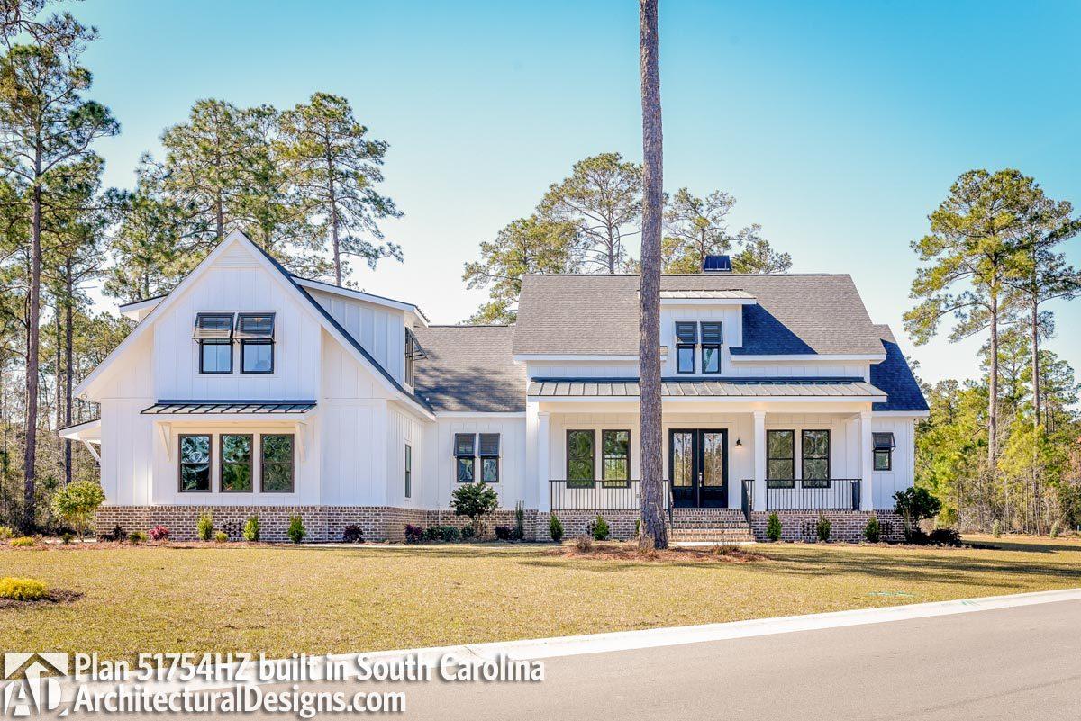 Modern Farmhouse Plan 51754HZ built in South