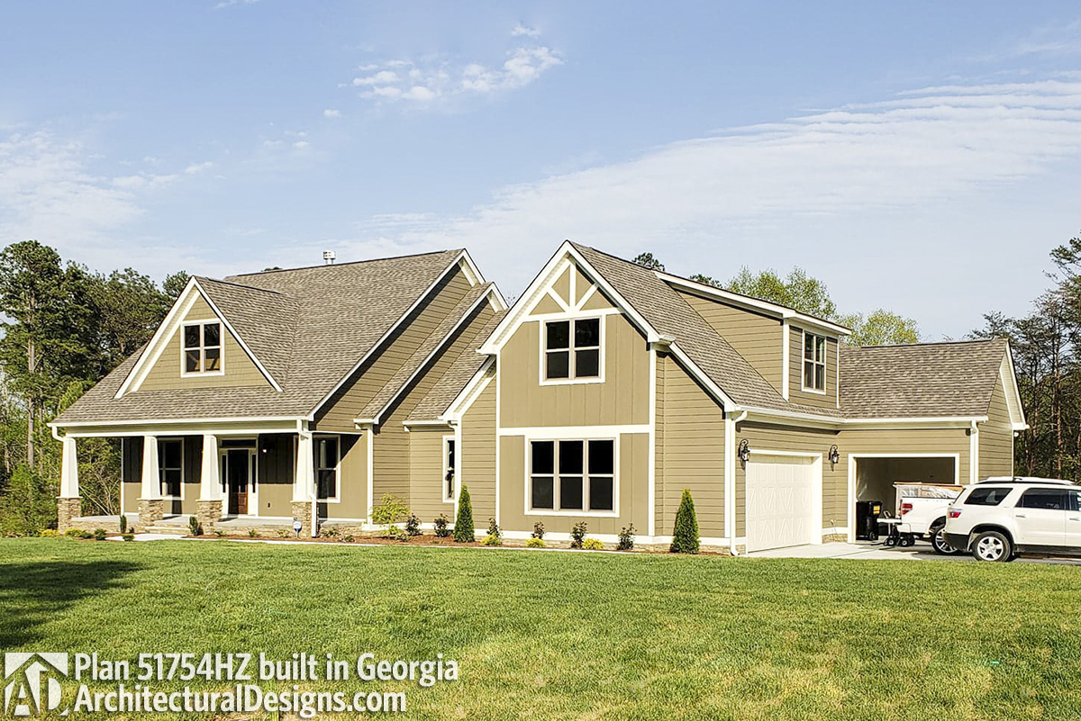 Modern Farmhouse Plan 51754HZ comes to life