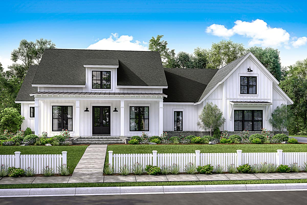 Modern Farmhouse Plan with Bonus Room - 51754HZ ...
