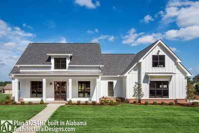 modern farmhouse plan with bonus room 51754hz thumb 01 - Farmhouse Plans