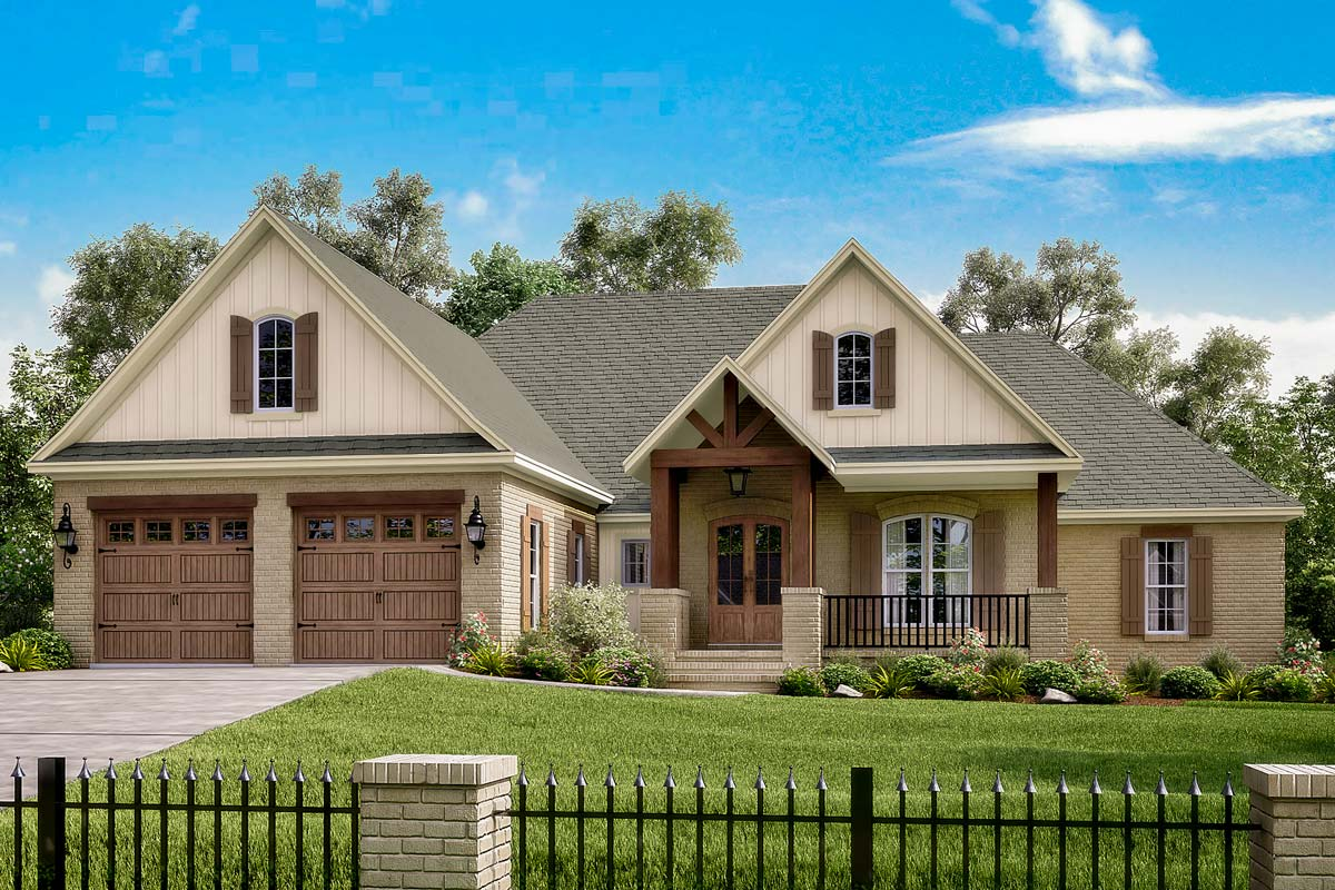 Four Bed French Acadian Home Plan With Optional Bonus