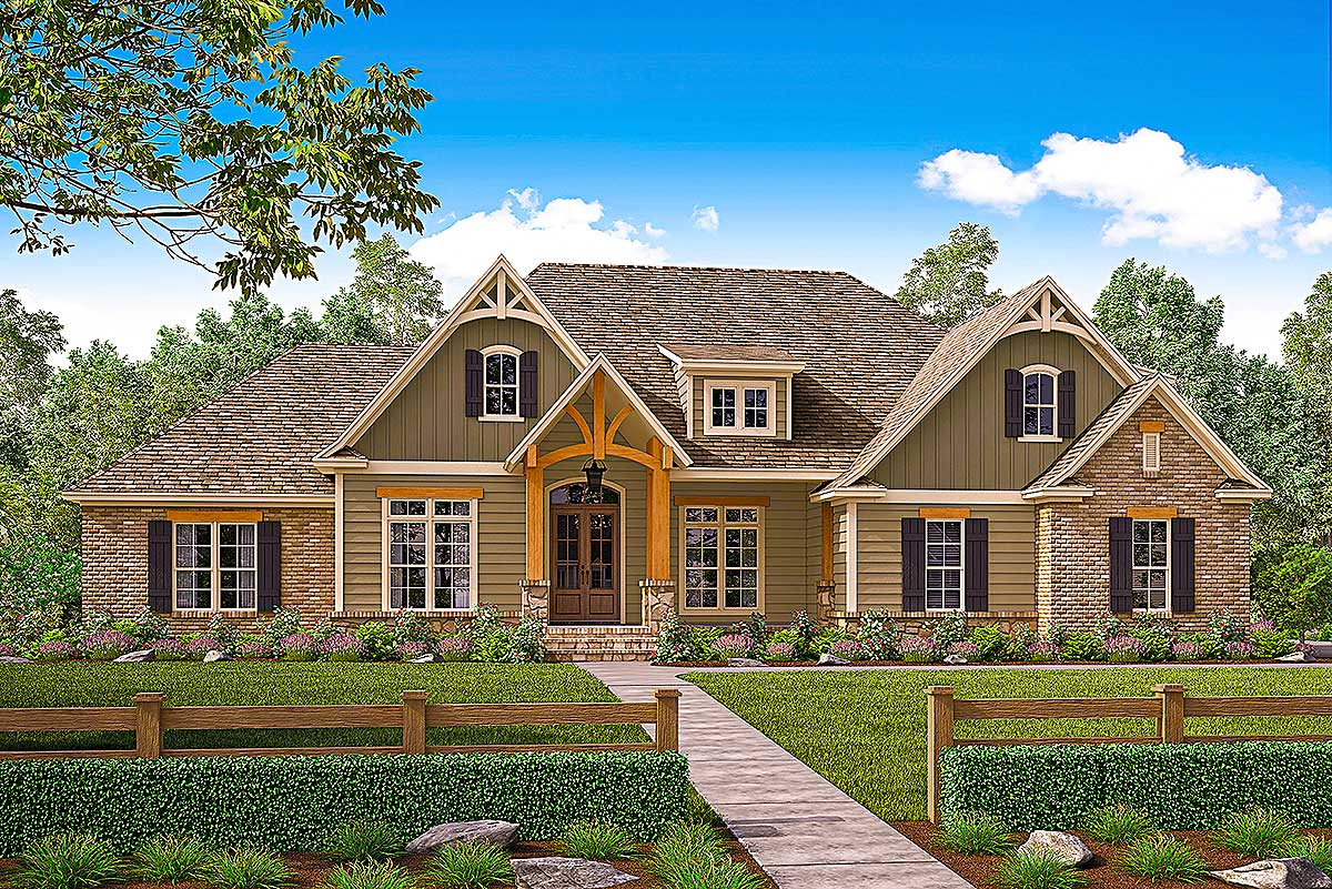 Gorgeous Craftsman House Plan With Bonus Over Garage