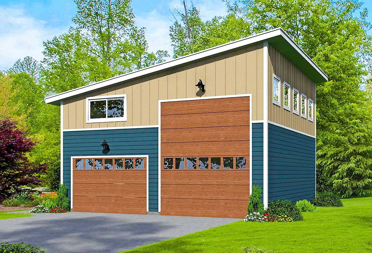 Contemporary Garage With Rv Bay 68448vr Architectural