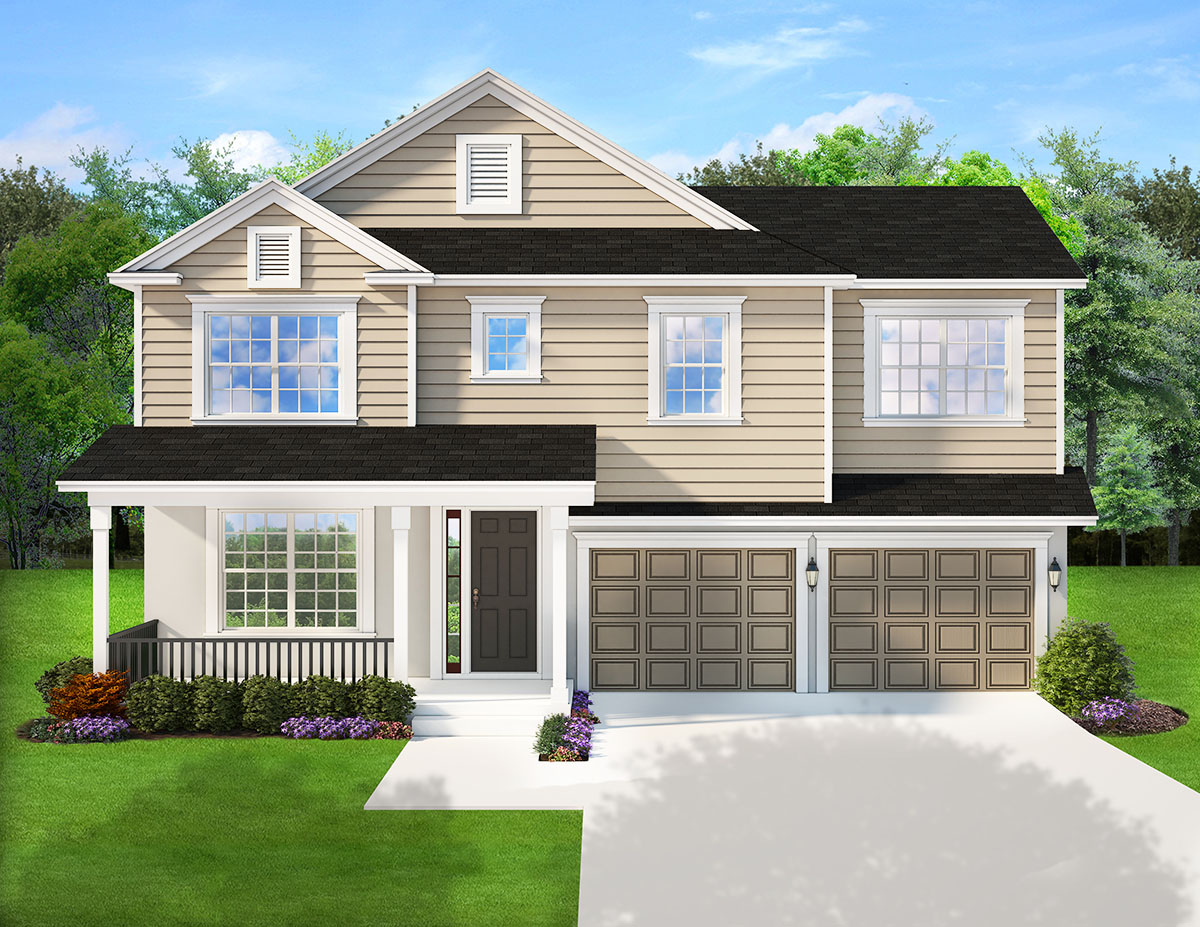 Traditional House Plan With Porches Front And Back
