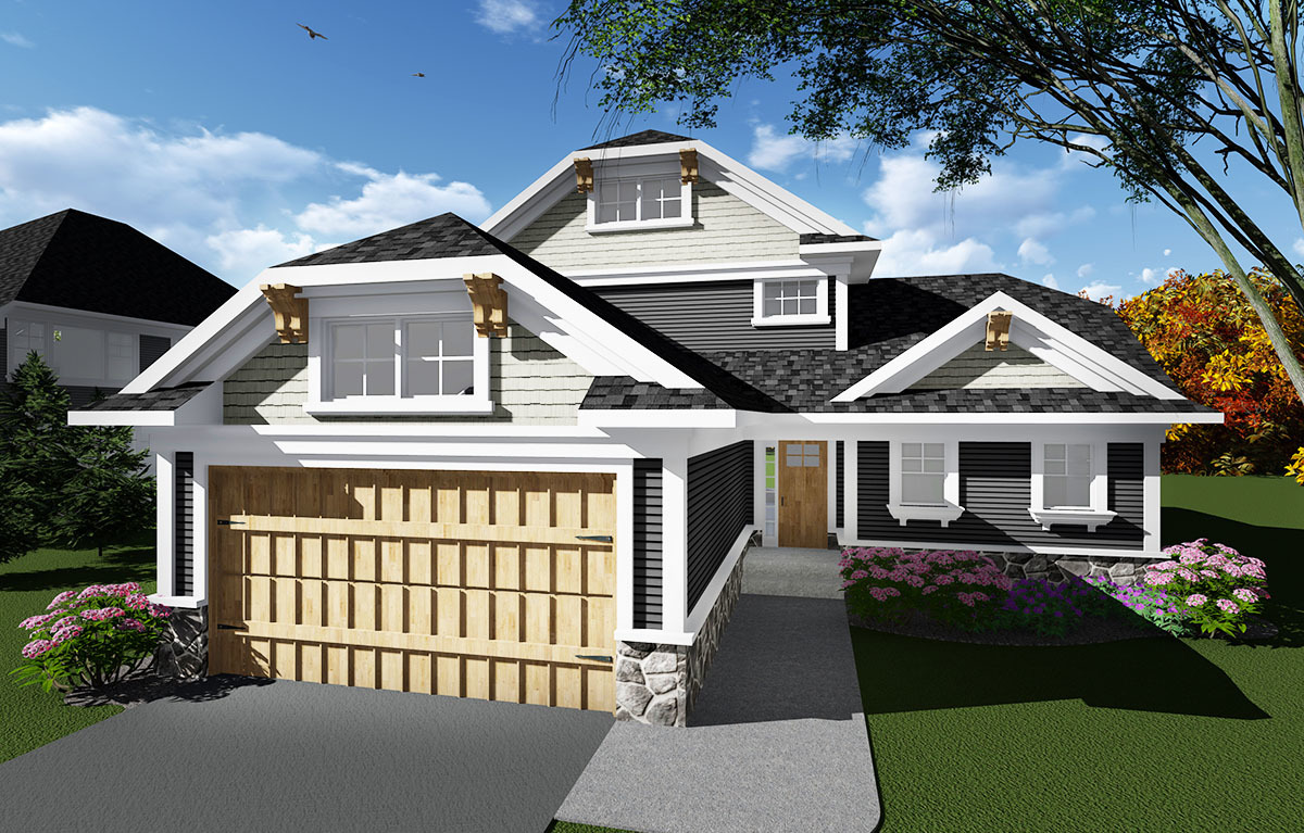 Open concept craftsman house plan 890011ah for Open concept craftsman house plans