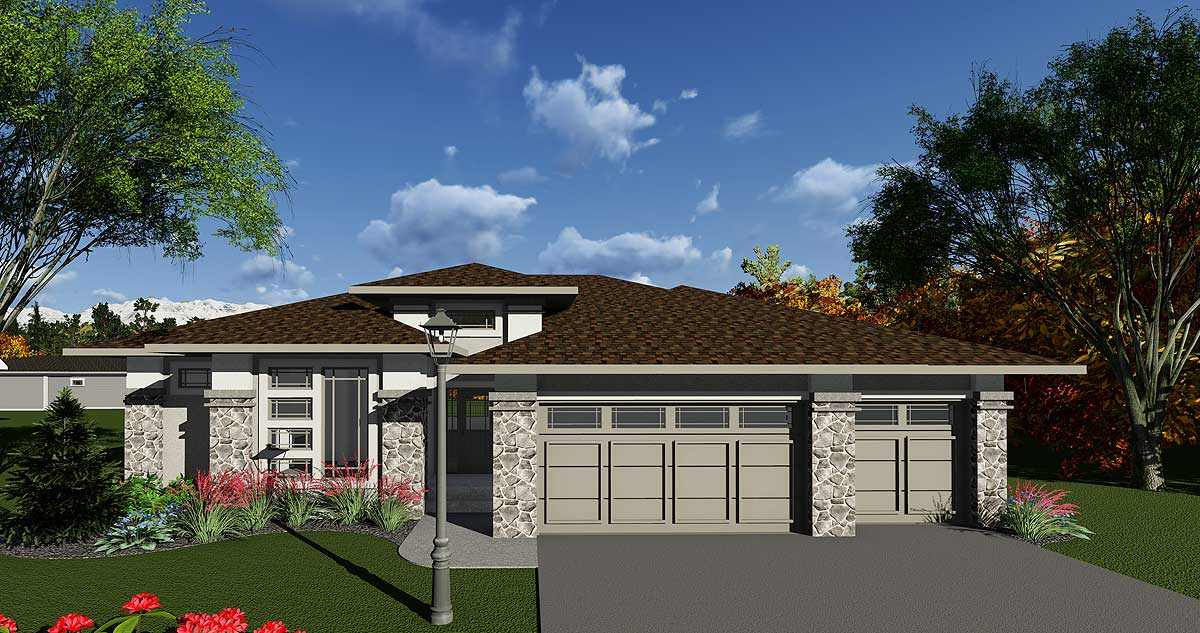 Prairie Style House Plan With Open Layout 890016ah