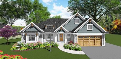 Craftsman-Inspired 2 Bed Ranch Home Plan - 890017AH thumb - 01