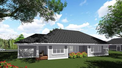 Craftsman-Inspired 2 Bed Ranch Home Plan - 890017AH thumb - 02