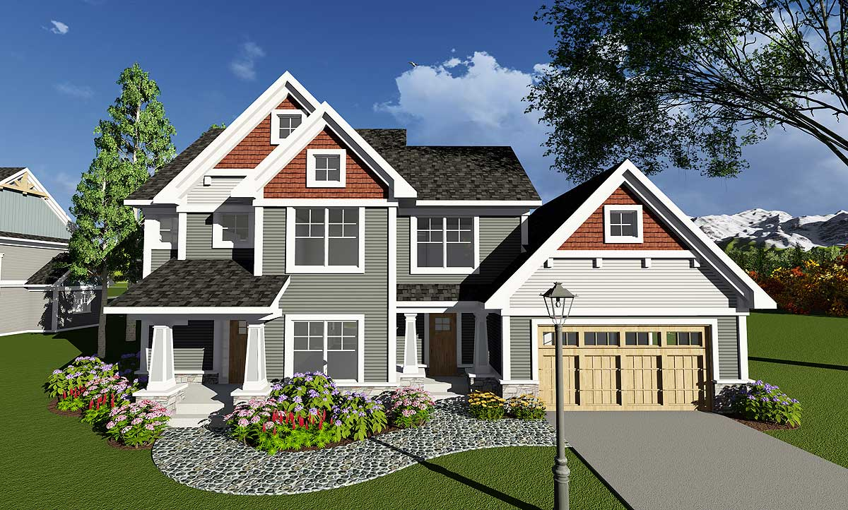 Four Bedroom Craftsman With Den - 890018AH