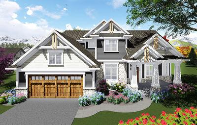 Appealing Craftsman House Plan - 890026AH thumb - 01