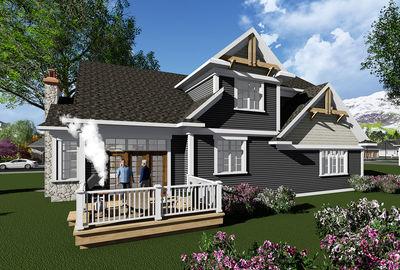 Appealing Craftsman House Plan - 890026AH thumb - 02