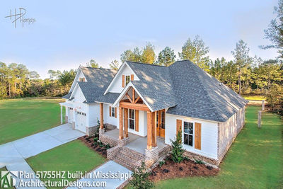 House Plan 51755HZ comes to life in Mississippi - photo 002