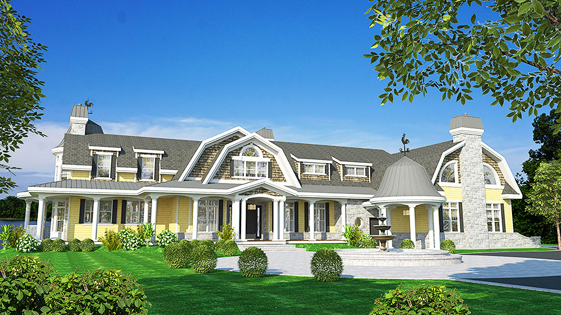 Gracious Shingle Style House Plan 90276PD