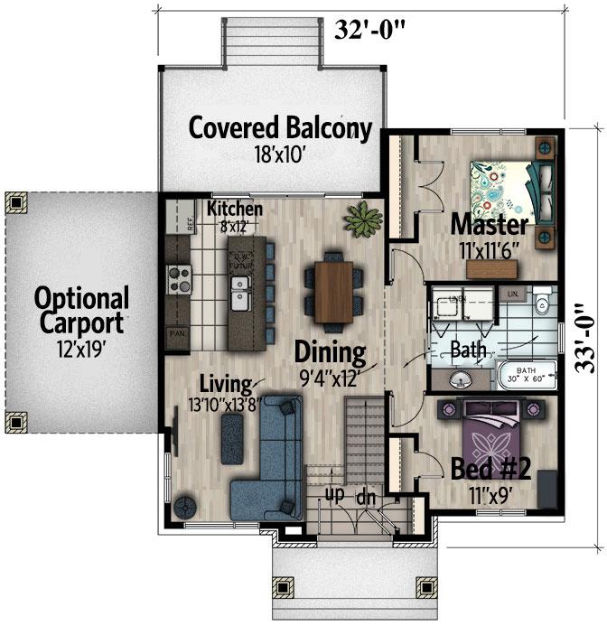 Two bedroom northwest house plan 90279pd 1st floor for Northwest floor plans