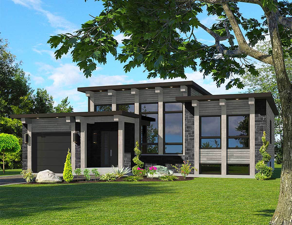 Attractive Modern House Plan 90286PD