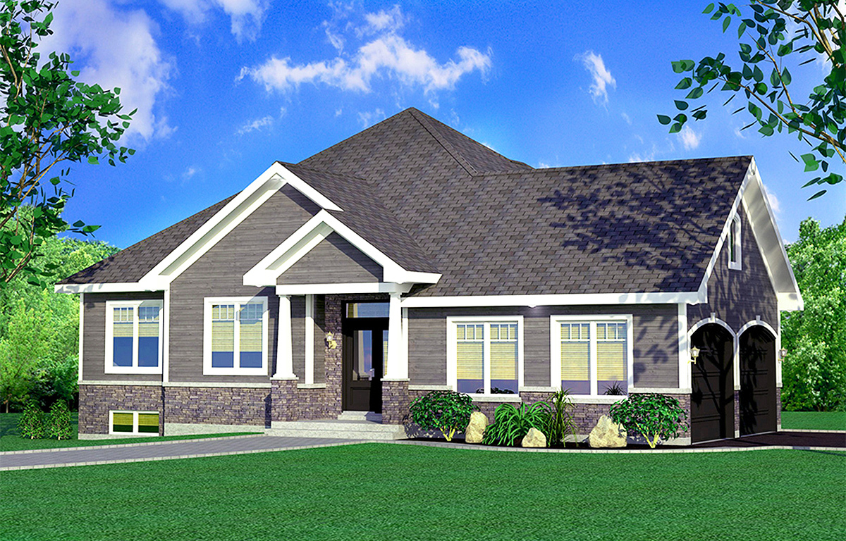 One Story Traditional House Plan - 90288PD