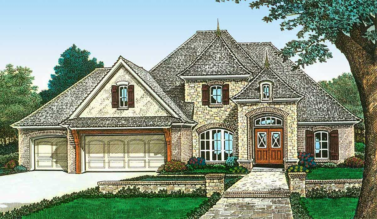 Exclusive french country made for entertaining 48531fm for Home plans for entertaining