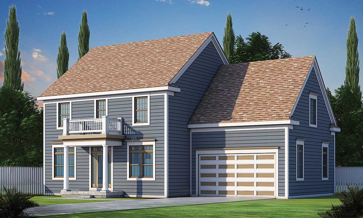 Comfortable Colonial House Plan 42399db Architectural