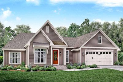 Three bed traditional house plan with a modern twist  - 51759HZ thumb - 01