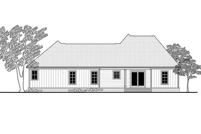 Three bed traditional house plan with a modern twist  - 51759HZ thumb - 02