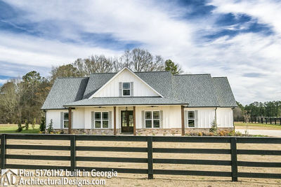 Classic 3 Bed Country Farmhouse Plan - 51761HZ | Architectural ...