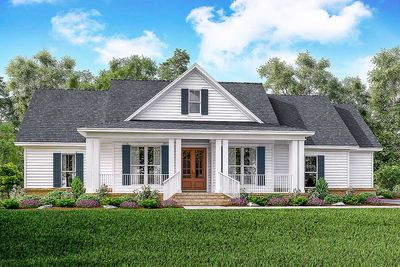 Classic 3 Bed Country Farmhouse Plan - 51761HZ thumb - 01