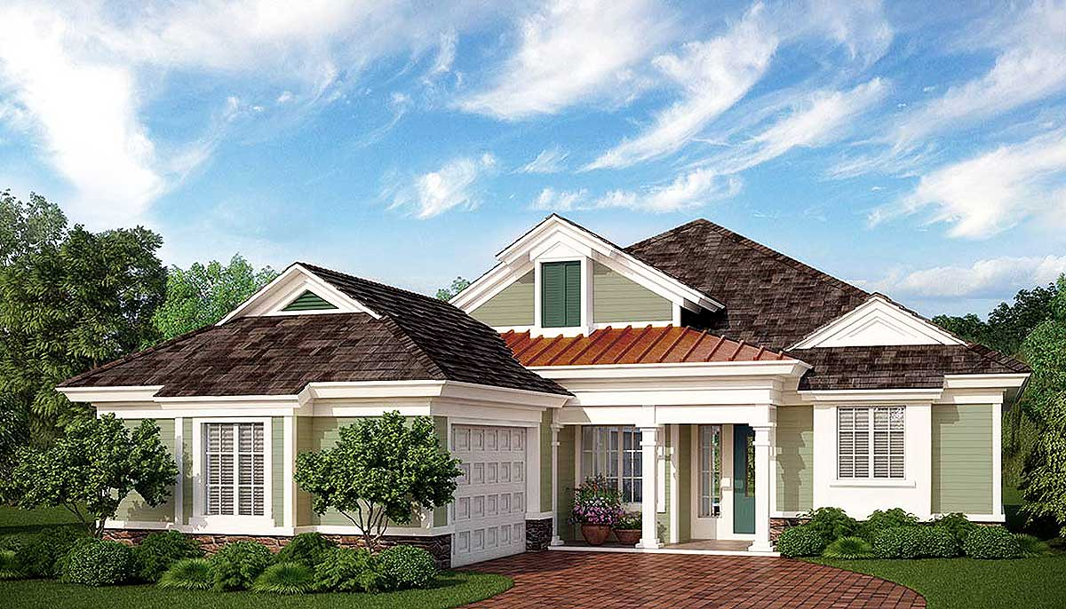 Budget Friendly Net Zero Ready House Plan 33181zr 1st