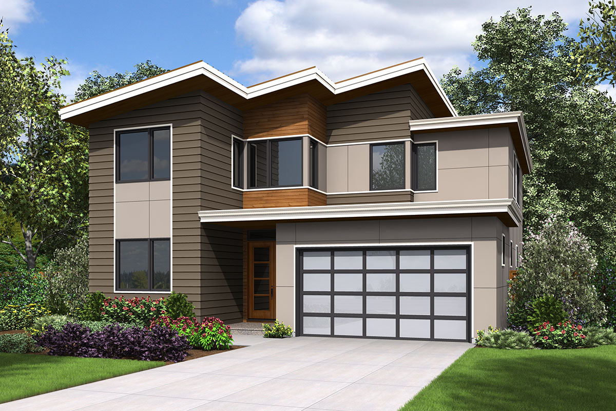 Modern House Plan with Vaulted Games Room