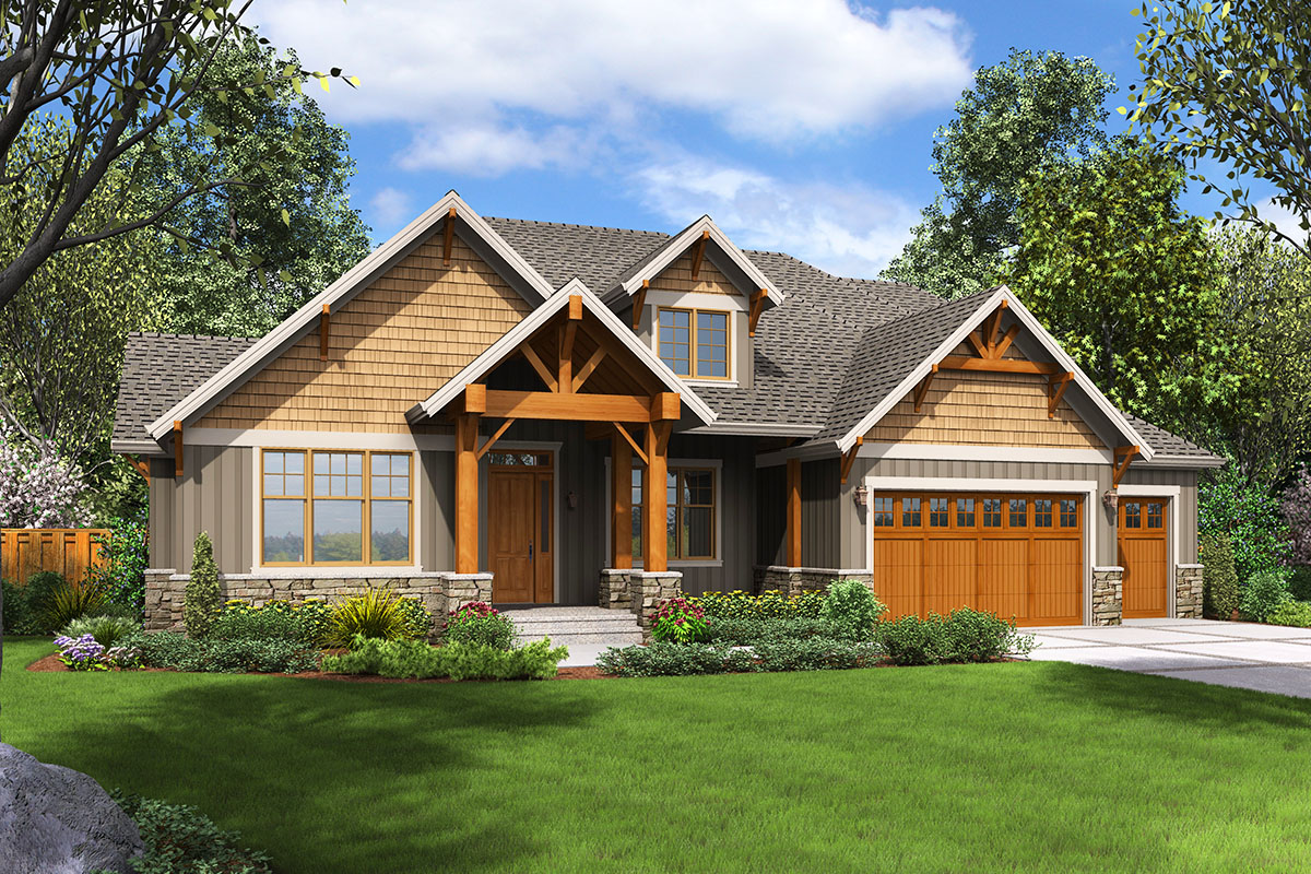 Rugged Craftsman House Plan with Upstairs Game Room ...