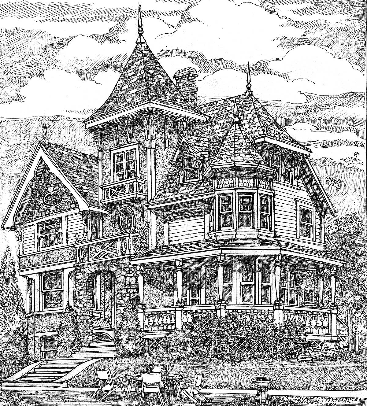 House Design: Richly Detailed Exclusive Victorian House Plan