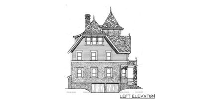 Richly Detailed Exclusive Victorian House Plan 12805gc