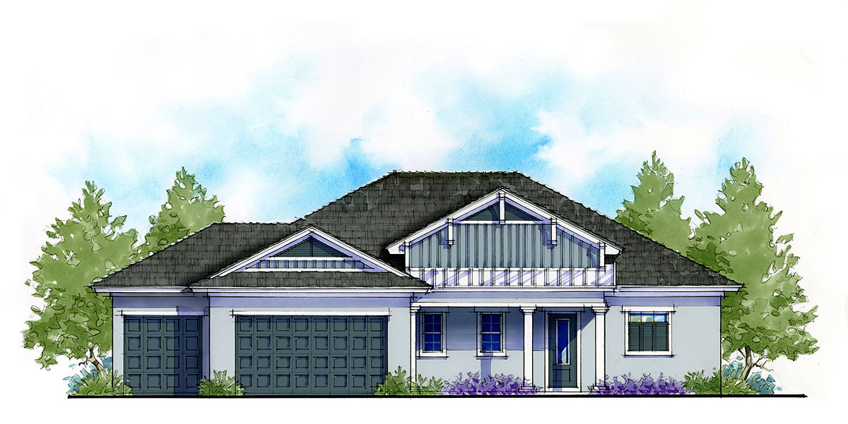 3 Bed Net Zero House Plan With Covered Front Porch