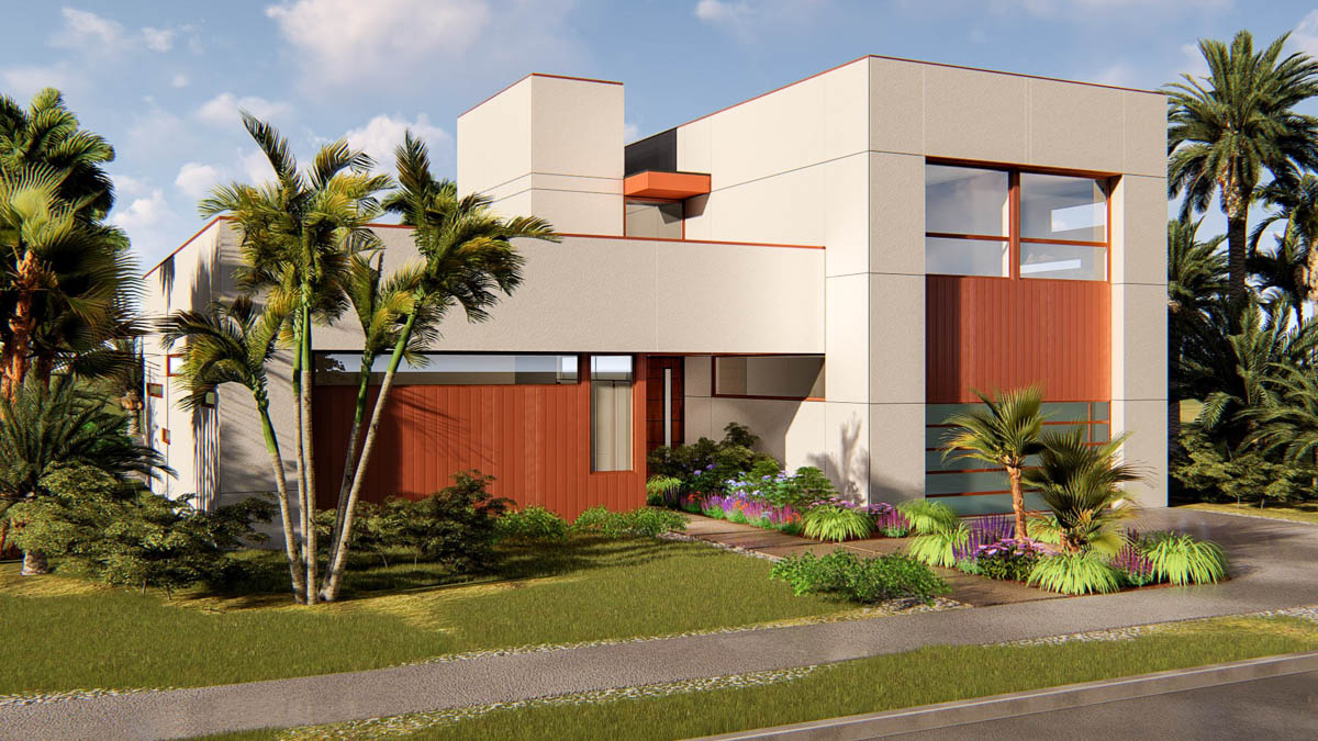 Exclusive 4 Bed Modern House Plan with