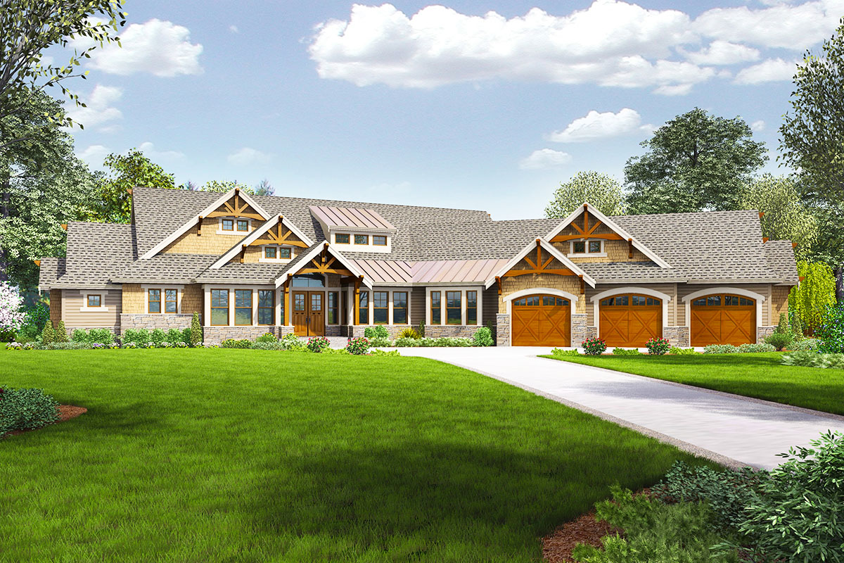 4 bed craftsman with dynamic floor plan 23681jd for Dynamic house