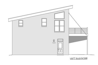 Modern carriage house plan with sun de 68461vr for Modern carriage house plans