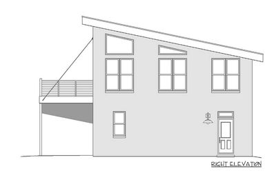 Modern Carriage House Plan with Sun De 68461VR Architectural