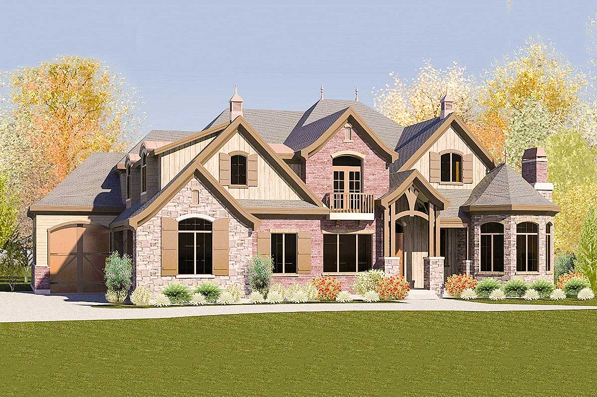 Eight bedroom european house plan 290007iy for 8 bedroom home plans