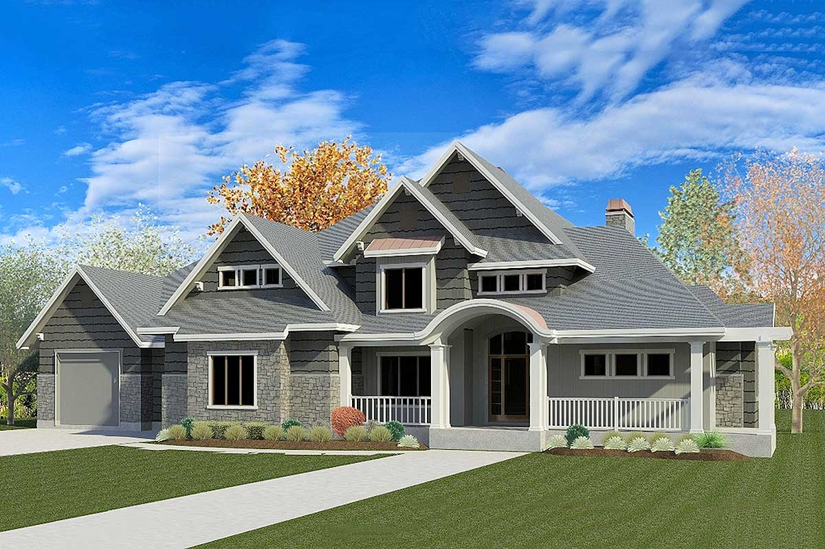 Exciting Traditional House Plan With Optional Sports Court